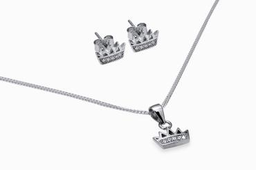 joias de prata de coroa