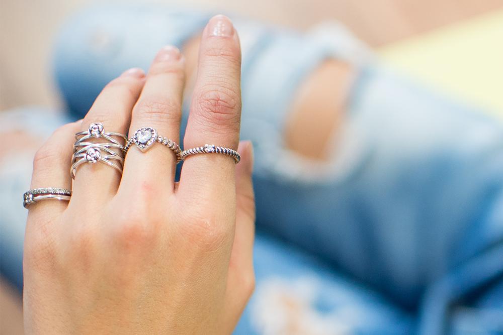 Lindos anéis de prata