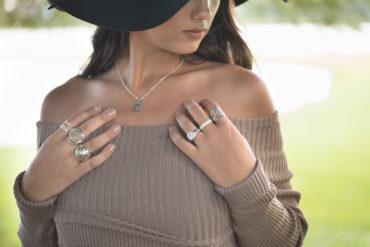 Anéis de pedras naturais