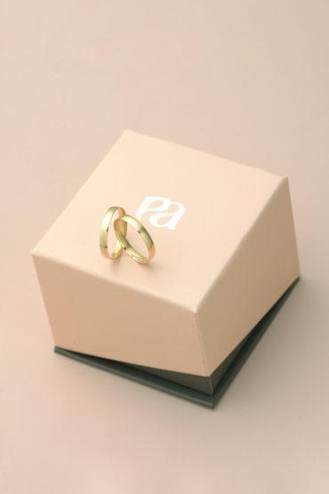 Aliança de Compromisso Amor - Ouro 18 k