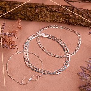 pulseiras prata e arte